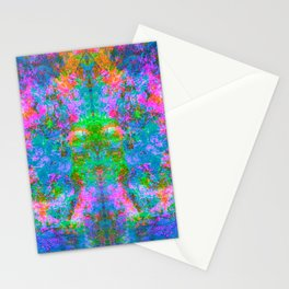 Kamana II (Ultraviolet) (abstract, psychedelic, psyart) Stationery Cards