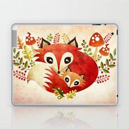 Fox Mom & Pup Laptop & iPad Skin