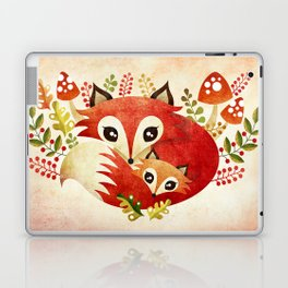 Fox Mom & Pup Laptop & iPad Skin