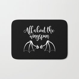 All About the Wingspan black design Bath Mat