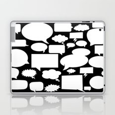 speech balloon black Laptop & iPad Skin