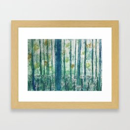 Collagraph print- enchanted forest Framed Art Print