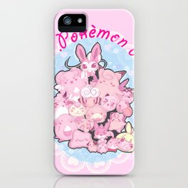 Pokémon pink iPhone Case