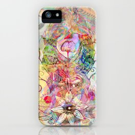 Ginkgo Spiralled Sunflower iPhone Case