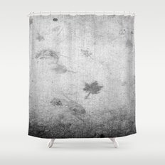 Leaf markings on cement  Shower Curtain