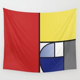 Mondrian vs Fibonacci Wall Tapestry