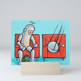 Date with Sputnik Mini Art Print