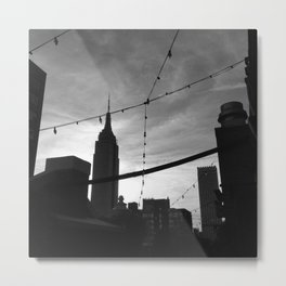 Empire State Building Silhouette Metal Print