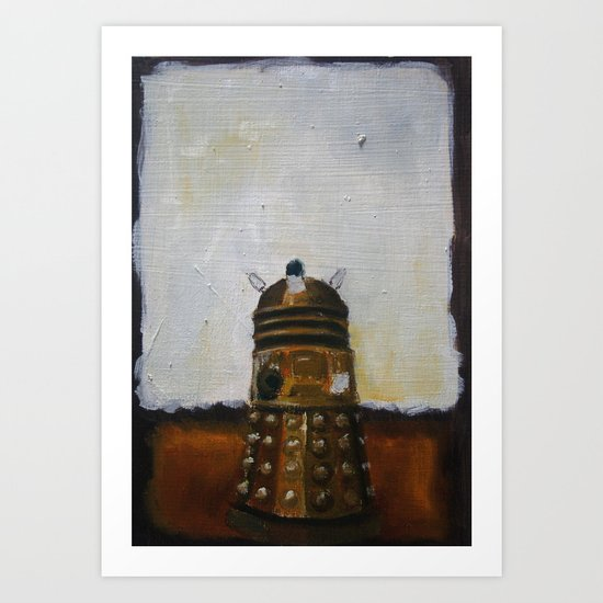 Dalek and a Rothko Art Print