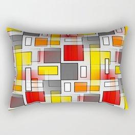 Abstract Layers Rectangular Pillow