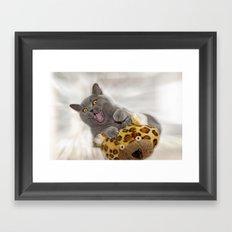 Supersonic Kitty Framed Art Print