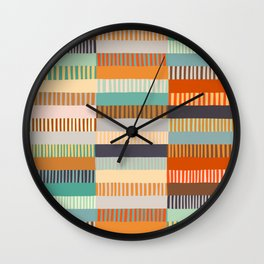 Fall Grandmother's Quilt Wall Clock