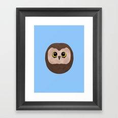 Chubby Little Owl Framed Art Print