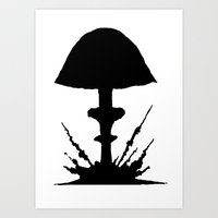 mushroom Art Prints featuring Mushroom by Kristijan D.