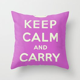 Keep Calm and Carry On Vintage worn Throw Pillow