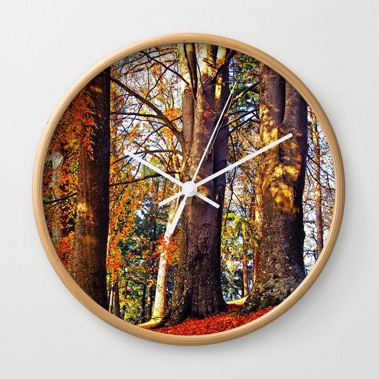 Autumn troika Wall Clock