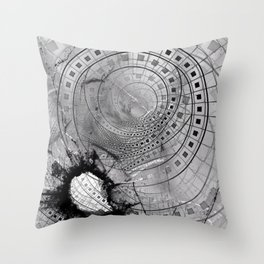 Fragmented Fractal Memories and Shattered Glass Throw Pillow