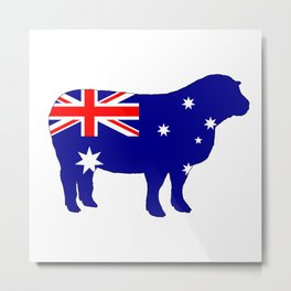 Australian Flag - Sheep Metal Print