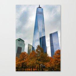 Autumn at the world trade center Canvas Print