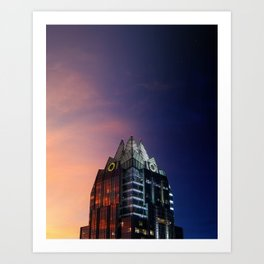 Frost Bank Tower day to night Art Print