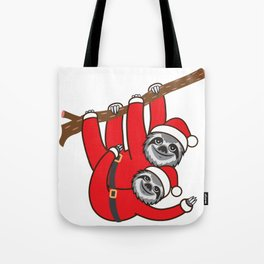 Santa Sloths Tote Bag