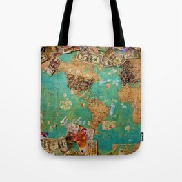 Risk Travel Map (Color) Tote Bag