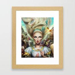 Alice In Wonderland, Portrait Framed Art Print