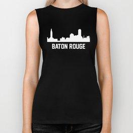 Baton Rouge Louisiana Skyline Cityscape Biker Tank