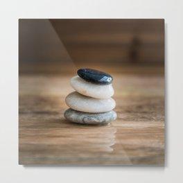 Harmony with pebbles Metal Print