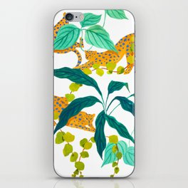 Leopards Playing among Plants iPhone Skin