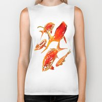 goldfish Biker Tanks featuring Goldfish by Regan's World