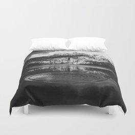 Ripple (Black and White) Duvet Cover