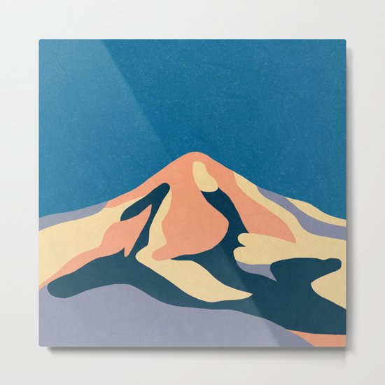 Over The Sunset Mountains Metal Print