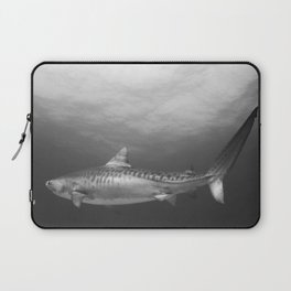 Tiger Shark, Black & White Laptop Sleeve