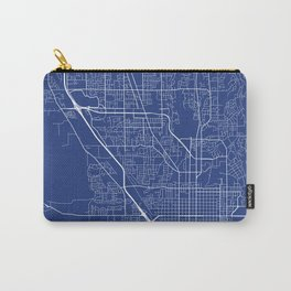 Provo Map, USA - Blue Carry-All Pouch