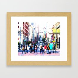 Up the Street Framed Art Print