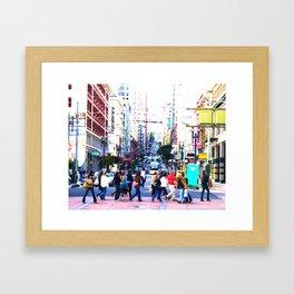 Up the Street Framed Art Print