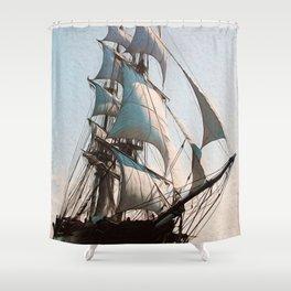 Black Sails Shower Curtain