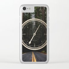 Gold Compass - The Road to Wisdom Clear iPhone Case