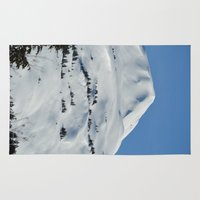 skiing Area & Throw Rugs featuring Back-Country Skiing  - VI by Alaskan Momma Bear
