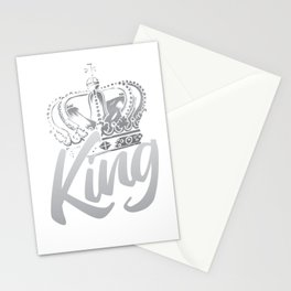 Koenig Crown black and white Stationery Cards