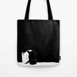 lovers watching the stars Tote Bag