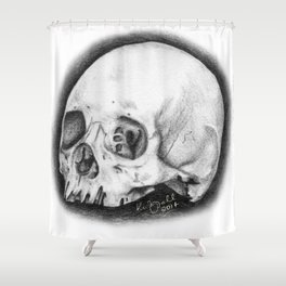 Tiny Skull Shower Curtain
