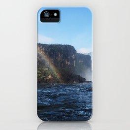 Rainbow Over Water iPhone Case