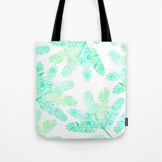 Leafy green allover pattern Tote Bag