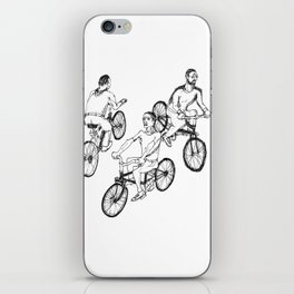 Guys on bikes iPhone Skin