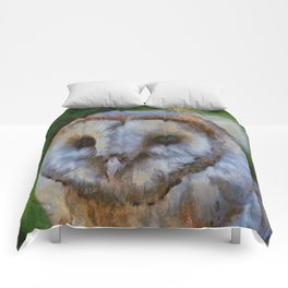 Tawny Owl In The Style of Camille Comforters