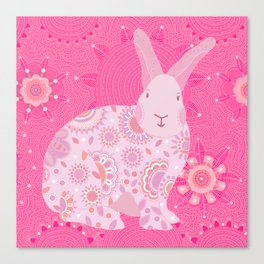 Pinky Touchy Bunny Canvas Print