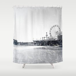 Frosted Santa Monica Pier Shower Curtain