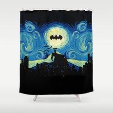 Starry Knight Gotham City Shower Curtain